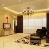 Warm Cozy Living Room 3dsMax Model