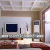 Minimalist Fashion Living Room Interior 3dmax Model