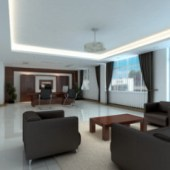 Chairman Office Room Interior Free 3dmax Model