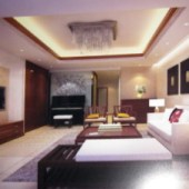 Simple Living Room Design 3dMax Scene