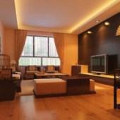 Minimalist Living Room Free 3dmax Model Scene