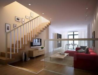 Interior Penthouse Living Room