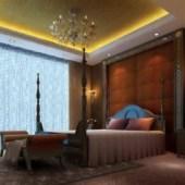 European Luxury Bedroom Scene