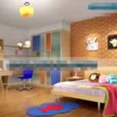 Orange Lovely Children's Bedroom