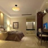 Modern Warm And Comfortable Bedroom