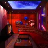 Chinese Red Ktv Rooms