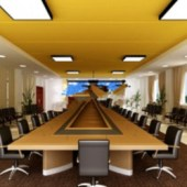 Multiplayer Meeting Room Free 3dmax Model