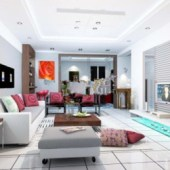 Clean And Comfortable Living Room Free 3dmax Model