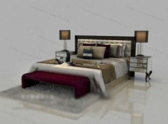 Classic Style Double Bed