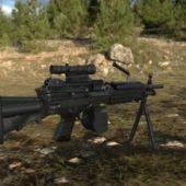 Military M249 Machine Gun