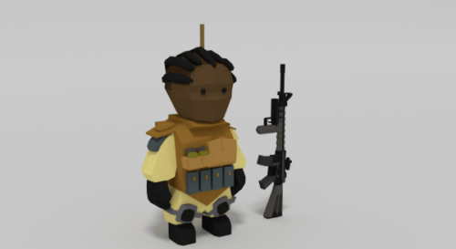 Lowpoly Rigs Soldier