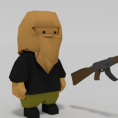 Low Poly Rigs Soldier