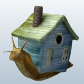 Snail With Toy House