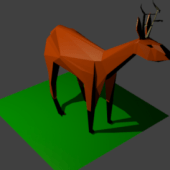 Deer Origami Low Poly