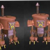A Steampunk Toy Robot
