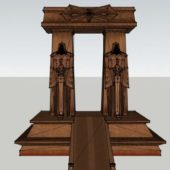 Antique Temple Stone Portal
