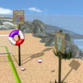 Beach Volley Scene