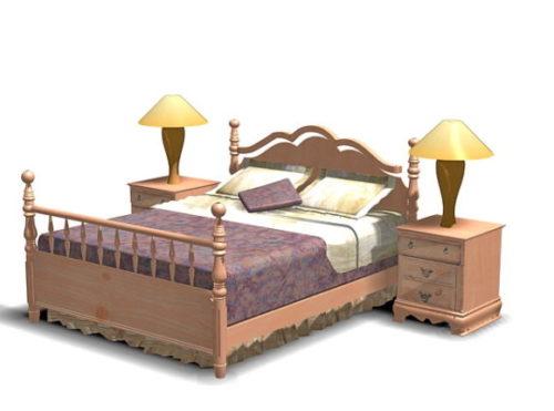 Antique Wood Bedroom Design