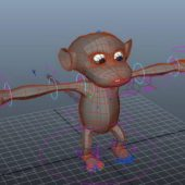 Animal Cartoon Monkey Rig