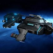 Military Sci-fi Spaceship