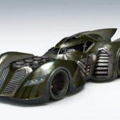 Black Batmobile Sci-fi Car