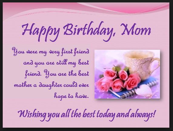 heart touching  happy birthday mom quotes from daughter  son, Birthday card