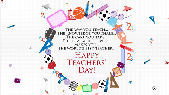 Happy Teachers day E-Card for a brilliant teacher