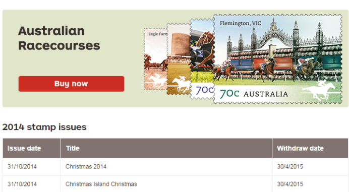 Australia Post Christmas Stamps 2014