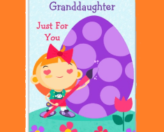 granddaughter easter wishes greetings cards grandpaernts grandmother grand father