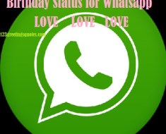 Birthday Status for Whatsapp Happy Bday Wishes my LOVE