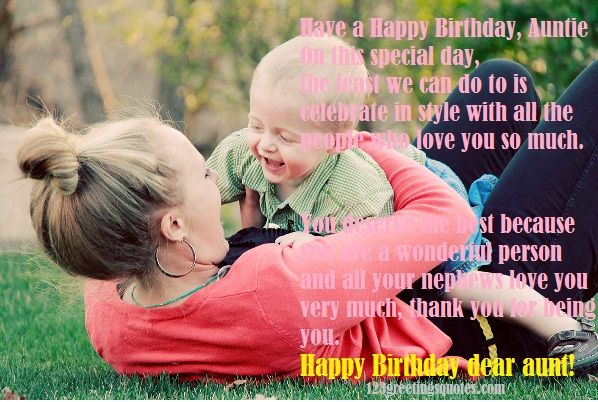101 Happy Birthday Aunt Wishes & Poems for MY AUNTY