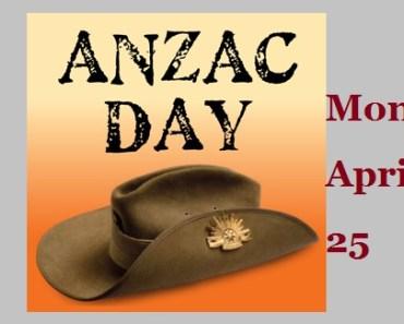 Anzac Day 2016-Monday- April 25