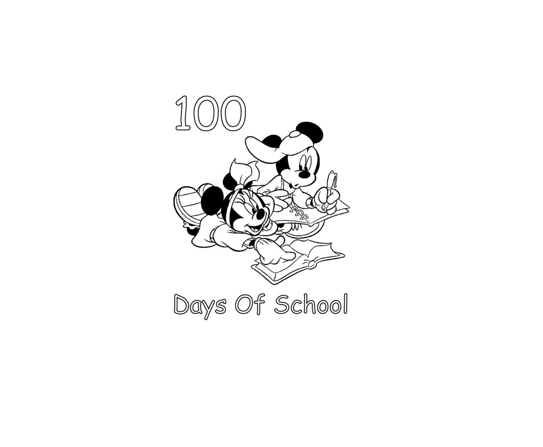 100th day of school coloring pages printable