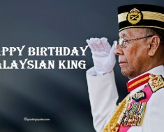 Malaysian king's birthday Wishes Greetings Images