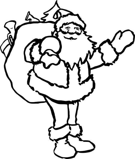 santa-claus-Christmas Colouring Pages