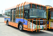 JBM's ECO-LIFE Electric Air-Conditioned city buses launched by Shri Vijay Rupani Chief Minister of Gujarat