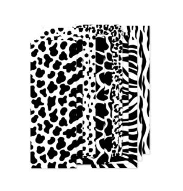 papierstroken zwart wit