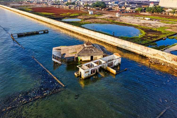 sea city landscape nature