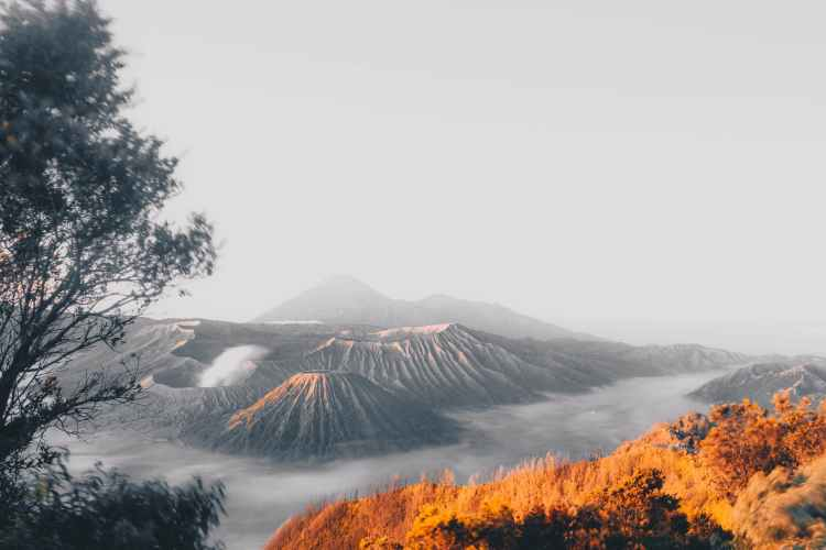 landscape photo of mountains scenery