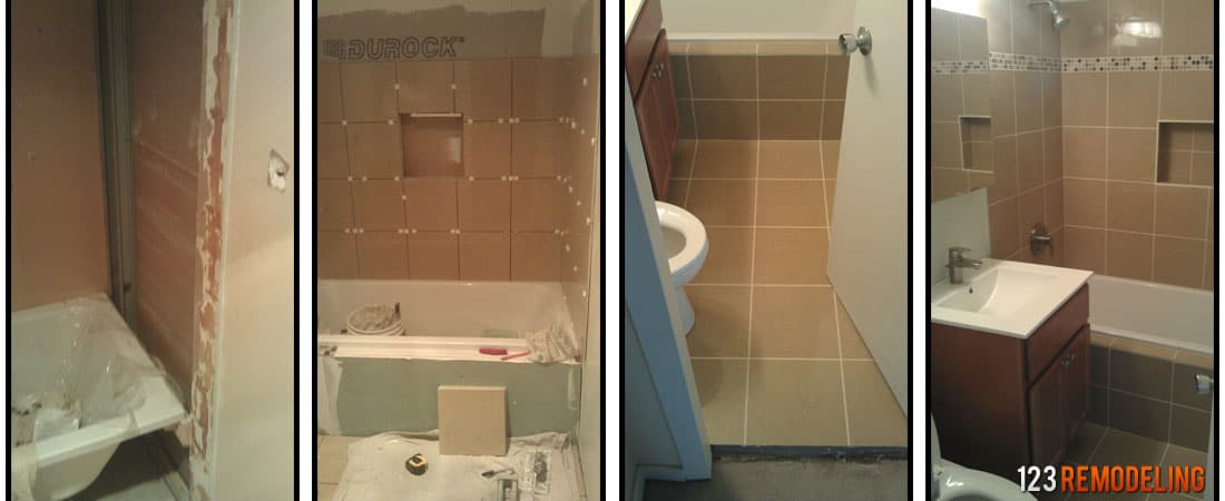 Remodel Bathroom Shower Cost average cost of bathroom remodeling in chicago
