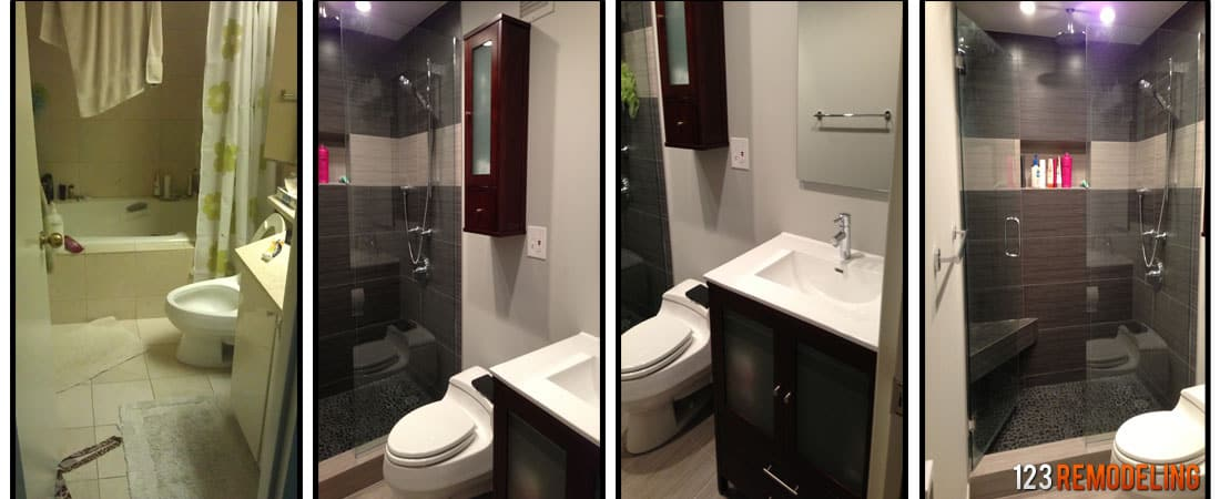 Bathroom Remodel 5' X 8' average cost of bathroom remodeling in chicago