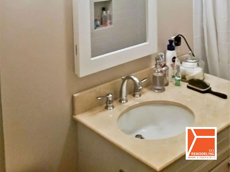 After Contemporary High-Rise Bathroom Remodel - 40 E. Cedar St, Chicago, IL (Gold Coast)