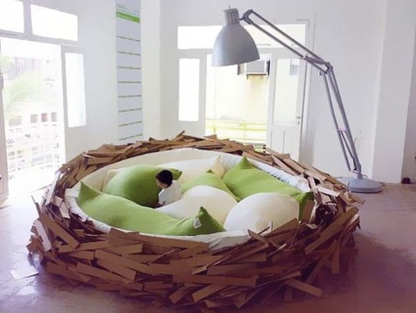 birds nest bed