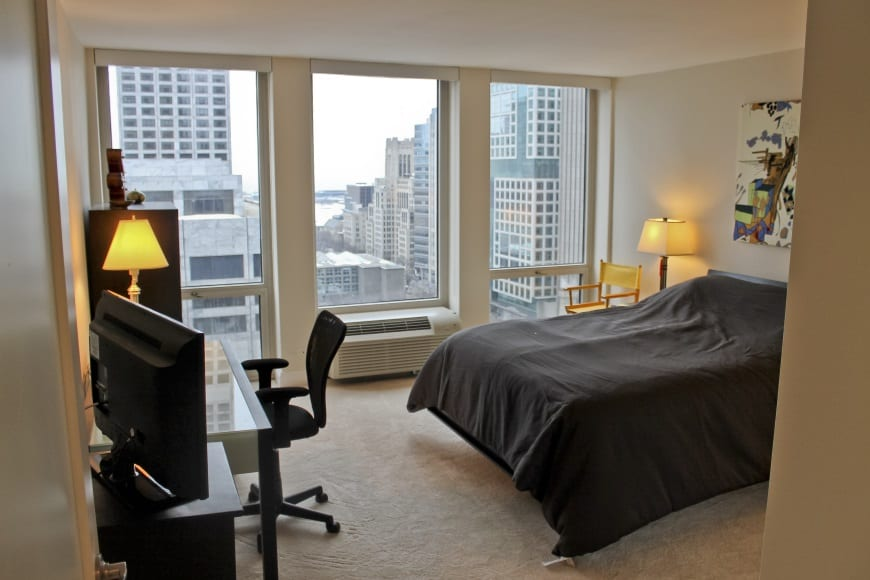 magnificent mile condo remodel bedroom redesign chicago