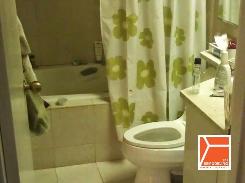 before condo guest bathroom remodel 100 e huron st chicago il river