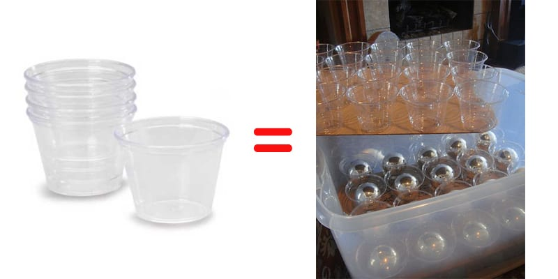 plastic cups storage remodeling ideas