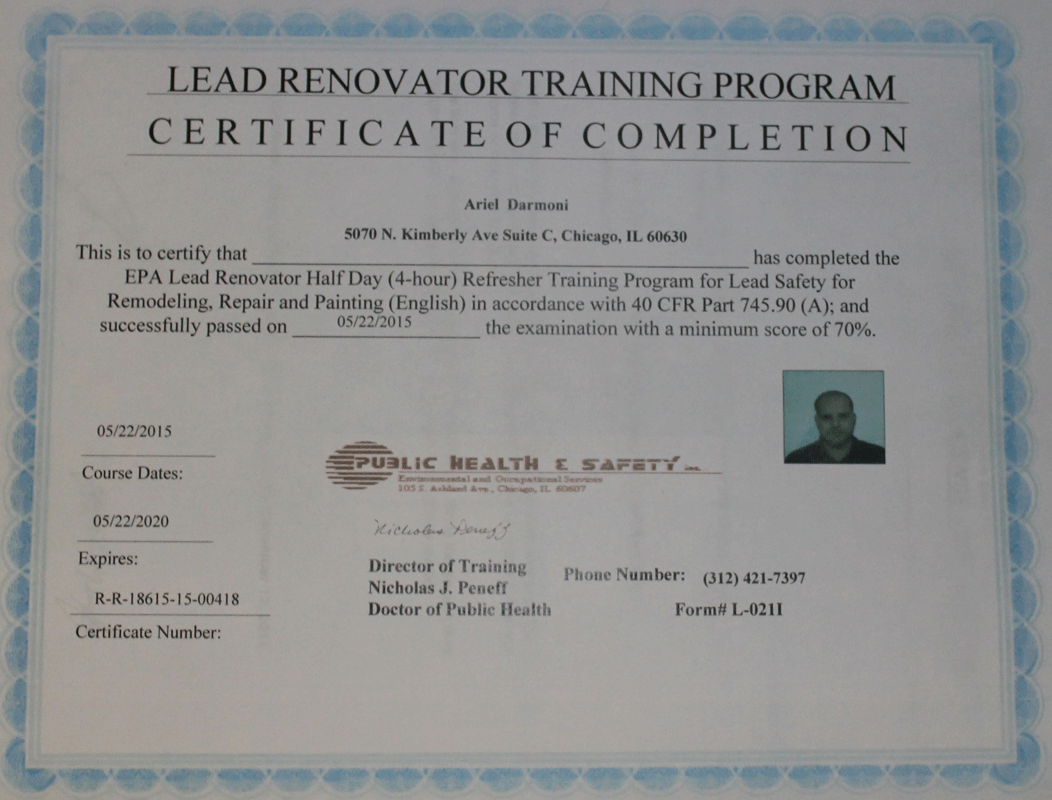 epa lead safe certification certified remodeling firm did know