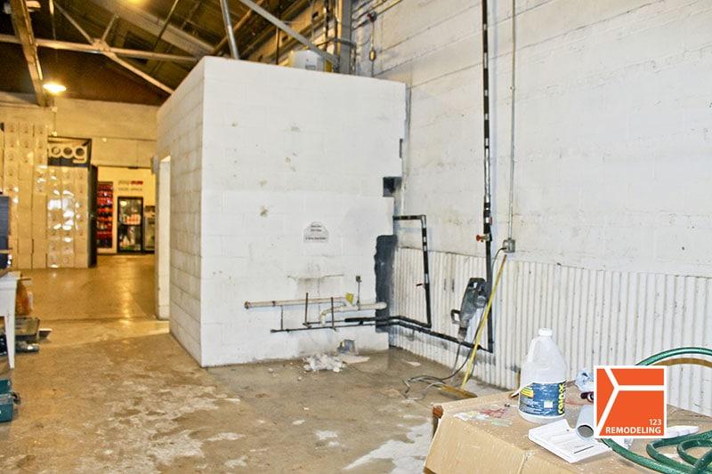 kimberly warehouse before bathrooms