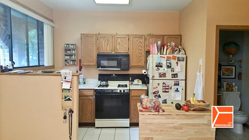 Before Townhouse Kitchen Remodel - 851 S Racine Ave, Chicago, IL (University Village/Little Italy)