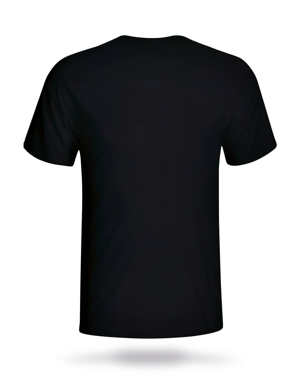 T Shirt Black Back